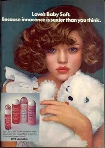 lolita i reklam vintage