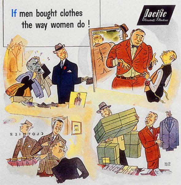 feminin man i reklam
