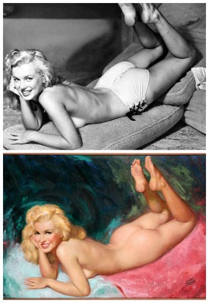 marilyn tecknad 1947
